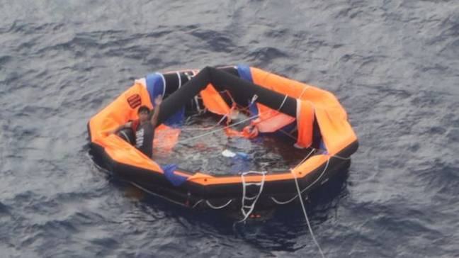 A 30-year-old Filipino man was also thankfully found. Credit: Japan Coastguard