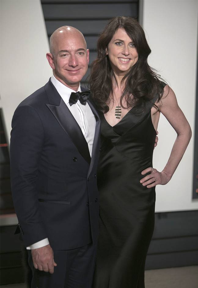 MacKenzie Scott picture with her ex-husband Jeff Bezos in 2019. Credit: PA